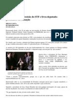 130829_Câmara afronta decisão do STF e livra deputado-presidiário da cassação