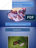 Armando Sanchez. Caracteristicas generales del Entrenamiento con infantiles.