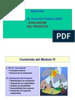 DIPLOMADO EN PROYECTOS DE INVERSIÓN- EVALUACION DE PROYECTOS