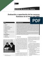 Evaluacion y Capacitacion de Los Recursos Humanos - Servir