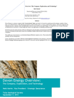 Devon Energy Overview - The Company, Exploration and Technology