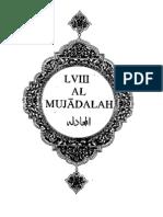 Sura Mujadalah - English