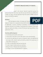Staff Development Programme in Nursing