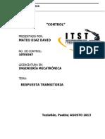 Respuesta Transitoria Mateo Diaz David