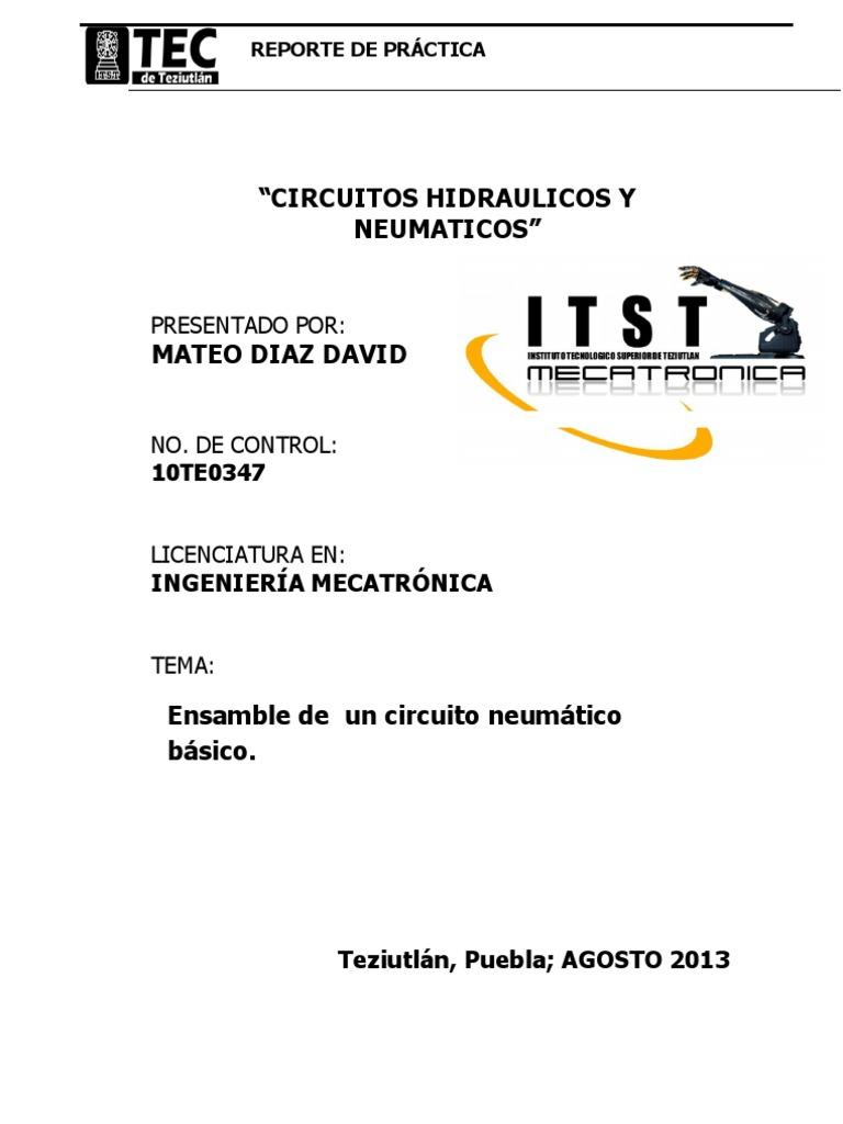 Circuito Neumatico Basico : Reporte de practica 2