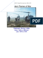 Modern Fow Vietnam War Army Lists 19601975