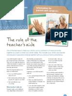 Info Sheet Teachers Aide Role
