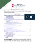 Fin Calc Guide