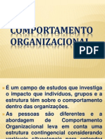 Comportamento Organizacional Slides