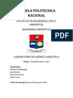 Informe de Quimica Analitica 1