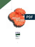 Caratula de Flores Manual Virtual Grower en Espanol