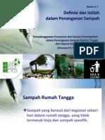 Definisi dan Pengertian dalam Penanganan Sampah