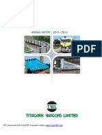 Titagarh Wagon Annual Report 2013