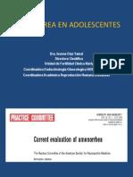 Amenorrea en Adolescentes