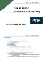Panduan Klasifikasi Rekod Am(Housekeeping)