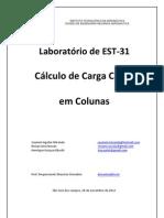 cálculo de carga critica em colunas