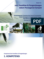 Kompetensi, Penelitian dan Pengembangan dalam Pengelolaan Sampah