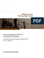 Financial Integration in East Asia