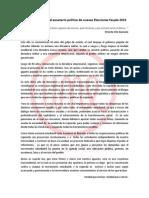 Declaración frente al escenario político de nuevas Elecciones Feupla 2013