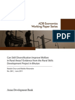 Can Skill Diversification Improve Welfare in Rural Areas? Evidence from the Rural Skills Development Project in Bhutan