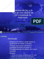 ECOLOGIA - Apresentação de um artigo sobre Emissões de CH4 e de N2O de uma vacaria
