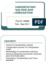 Uthm 5 - Note Lecture Mka 2133 - Transportation Analysis and Forecasting