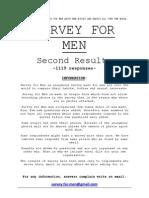 2. Results - Survey for Men
