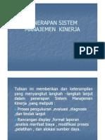 Penerapan Sistem Manajemen Kinerja