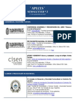 APECES - Newsletter N 3. 02-07.9.2013