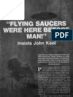"""FLYING SAUCERS WERE HERE BEFORE MAN"" Insists JOHN KEEL. An Interview with Bryce Bond"
