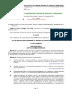 LEY DE PROTECCIÓN Y DEFENSA AL USUARIO DE SERVICIOS FINANCIEROS