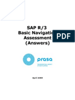 SAP Nav Assessment Answers