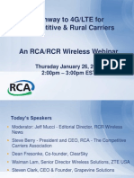Pathway to LTE for Competitive and Rural Carriers RCAWebinarPreso