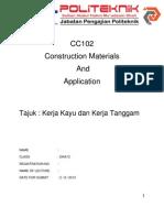 CC102 Construction Materials and Application Kayu Tanggam Folio