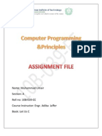 Computer Programming & Principles (C Language)