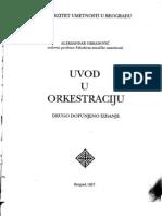 Aleksandar Obradovicj - Uvod u Orkestraciju