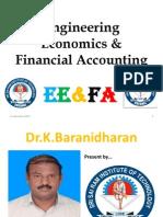 ENGINEERING ECONOMICS & FINANCIAL ACCOUNTING - FINAL YEAR CS/ IT THIRD YEAR - SRI SAIRAM INSTITUTE OF TECHNOLOGY, CHENNAI - Dr.K.BARANIDHARAR