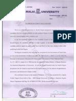 Annamalai University Double Degree Eligible Doc1