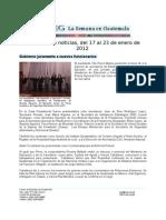 La Semana en Guatemala 2012 / gen 17 - 23