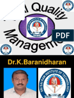 TOTAL QUALITY MANAGEMENT - 7 NEW TOOLS - FINAL YEAR ECE - SRI SAIRAM INSTITUTE OF TECHNOLOGY - Dr.K.BARANIDHARAN