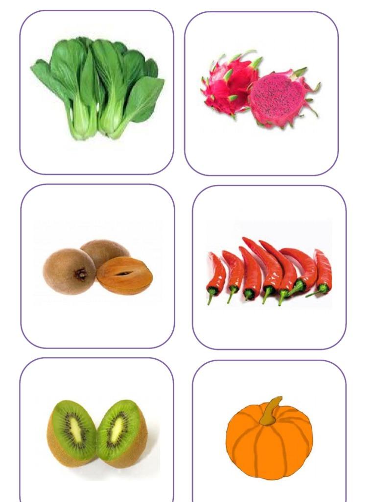Suku Kata Dan Gambar Sayur-sayuran