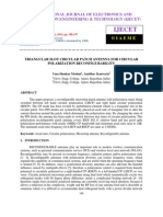 Triangular Slot Circular Patch Antenna for Circular Polarization Reconfigura