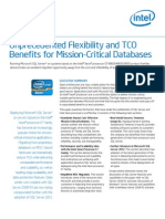 SQL Server 2012 Intel Flexibility and TCO Benefits for Mission Critical Databases White Paper