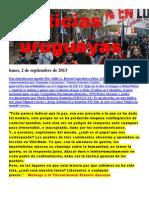 Noticias Uruguayas Lunes 2 de Setiembre Del 2013