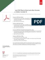 Adobe Acrobat Xi Convert PDF to Microsoft Office Word Tutorial Ue