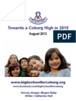 Towards a Coburg High in 2015