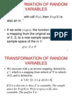3.Random Variables Expectation Transformation