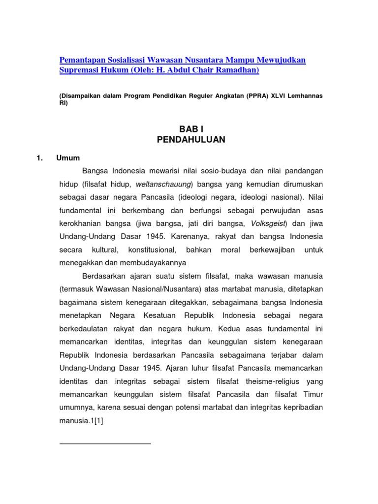 Essay Geopolitik Dengan Sumpah Pemuda Pemantapan Sosialisasi Wawasan Nusantara Mampu Mewujudkan Supremasi Hukum