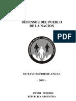 Defensor.gov.Ar - Informe 2001