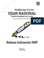 Soal Prediksi UN Bahasa Indonesia SMP 2013